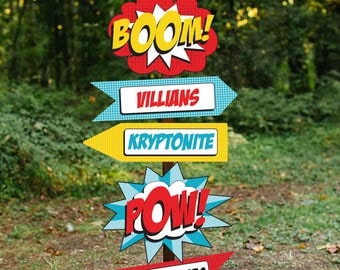 Superhero Party Welcome Sign - Superhero Party Printable Sign - Superhero Signs - Instant Download and Edit File at home with Adobe Reader