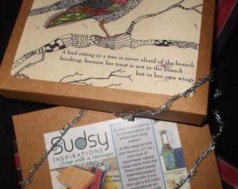 Sudsy Inspirations, Vegan Soap, Guest Size,Kraft Box, Lemongrass Grapefruit, Inspirational Art, Handmade Soap,Art-o-Mat, Soap gift box