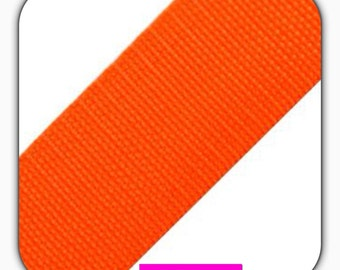 Polypropylene webbing, width 40 mm, orange, bag accessories