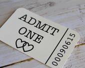 Drink Tickets, Admit One, Wedding Tag, Wedding Favor Tag