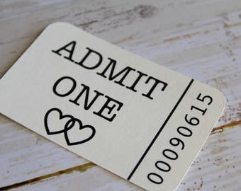 Drink Tickets, Admit One, Wedding Tag, Wedding Favor Tag