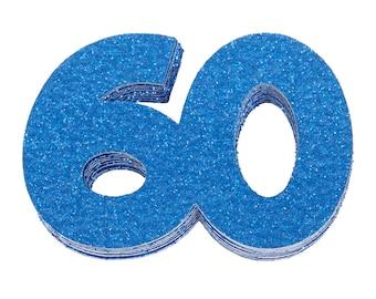 60th Birthday Confetti, 60th Anniversary Confetti, Sixtieth Birthday Party Decor, 60th Birthday Decor, 60th Birthday Favor, 60th Milestone