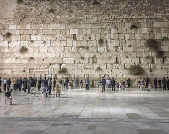 The Western Wall, Israel Photography, Praying at The Western Wall, The Old City, Inspirational Wall Decor, Canvas Wraps or Prints