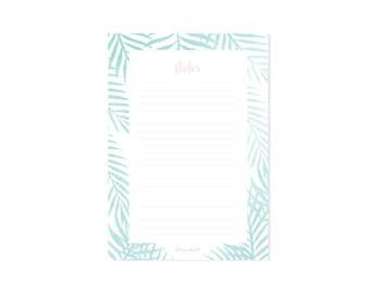 Notepad Mint Leaves