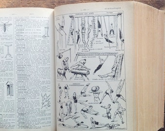 French vintage dictionary, Larousse