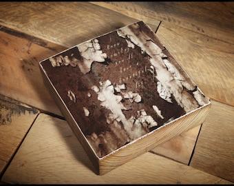 "Pearl Jam ""Black"" Lyrics reclaimed wood block art piece"