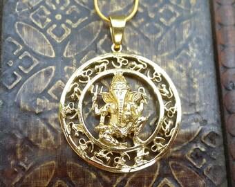 Gold Ganesh Pendant Yoga Necklace