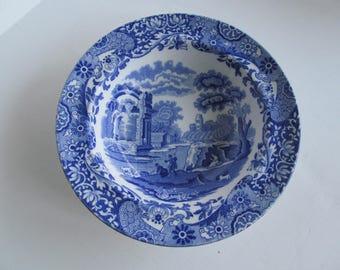 Rare Copeland Spode Italian Transferware Bowl  Blue Transferware  Collectible English China Plates    Blue Transferware Spode's