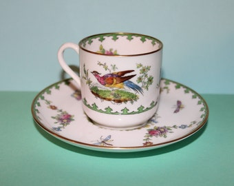Elegant Porcelain Spode Copeland's China/Pattern Vienna Coffee cup and Saucer.
