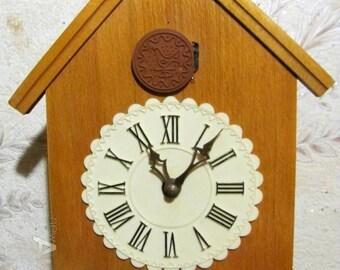 "Cuckoo Clock ""Majak"" ,Working Clock, Soviet clock ,Russian clock ,Mechanical clock , Made in 1980s , Soviet Union , USSR Clock"