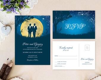 Gay Wedding Invite | Etsy