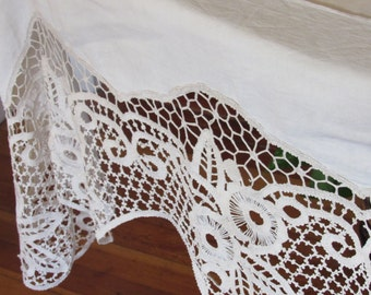 Long Lace & Cotton Runner