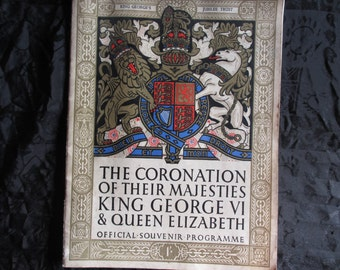 Vintage The Coronation of their Majesties King George VI & Queen Elizabeth - 1937