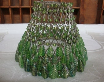 Beaded Votive Shade Green