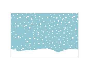 Snowing Background, JPEG and PDF