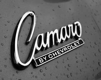 Camaro, fine art Photography, Black and white, wall art, home décor, car photography, vintage, truck, auto, gift, print