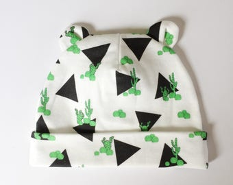 Triangle Cactus 0-3 month Newborn Beanie