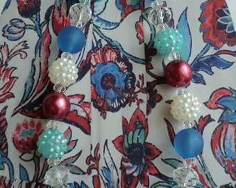 """The  M2M """" WILDFLOWER  """" Persnickety Collection 2017  Glass Bead Necklace, Toddler, Girls, Birthday, Photo Prop"""