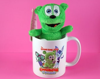 Gummibär & Friends Mug and Gummibär (The Gummy Bear) Clip On Plush Toy ~The Gummy Bear Show~ Limited Edition