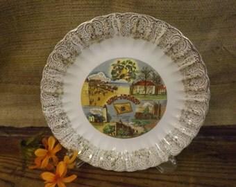 New Jersey Souvenir Plate New Jersey State Plate Vintage Souvenir Plate