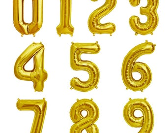 "34"" Large Helium Friendly Foil Number Balloons decorations for Birthday Parties"