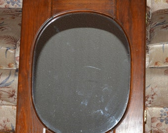 Bathroom Cabinet with Mirror, Rustic Wood// Retro Bathroom Storage Cabinet,  Mirrored Cabinet, Oval Mirror, Wall Cabinet,  Reduced Price