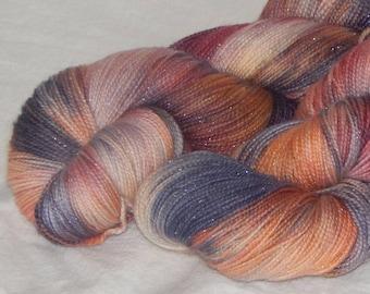 Take Me Home on Mad Sock Sparkle 75/20/5 SW merino nylon and stellina fingering yarn