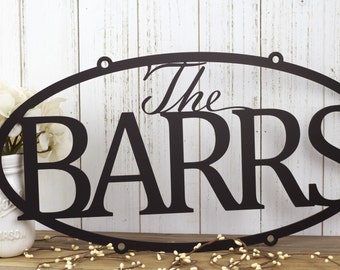 Family Last Name Metal Sign | Custom Sign | Personalized Sign | Wedding Gift | Family Name Sign | Outdoor Sign | House Sign