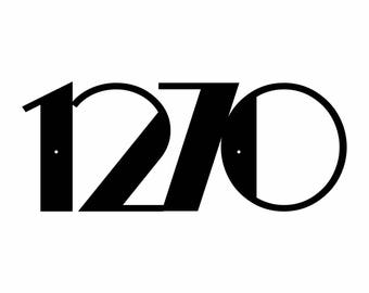 1270 Modern House Number Metal Sign