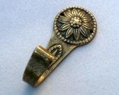 Vintage Brass Hook, Clothes Hanger, Decorative Hook