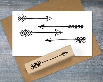 Hand Drawn Arrow Stamp, Arrow Rubber Stamp, Archery Stamp, Cupid Arrow, Pattern Stamp, Stamp Set, Doodle Stamp, Journal Stamp 080
