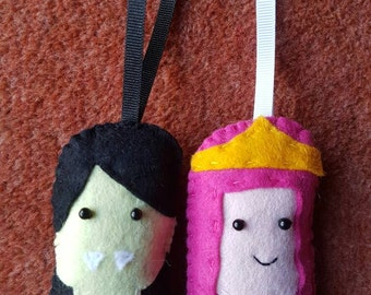 Adventure Time Marceline and Princess Bubblegum inspired decorations