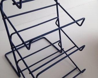 Wire Display Rack and Metal Display Shelf / Modern Industrial Table Top Shelf