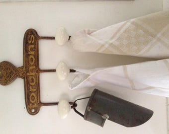 French iron tea towel (torchons) holder