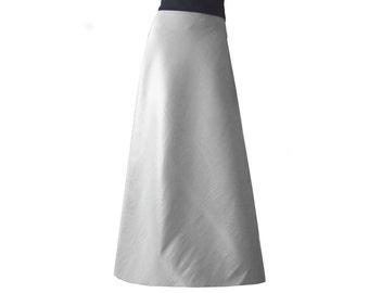 Long Satin Skirt Royal Blue Bridesmaid Maxi Formal Skirt