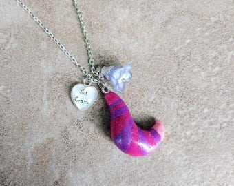 Cheshire Cat inspired necklace