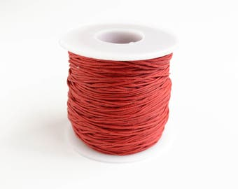 Red Waxed Cotton Cord - 10 yards 1 mm (3298-1007)