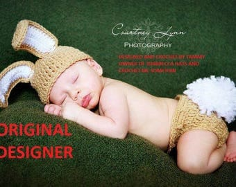 Baby Boy Bunny Hat MUST SEE Too Cute Newborn Baby Boy or Girl Crochet Bunny Hat/Diaper Cover More Colors  Easter Set