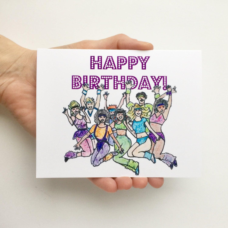 80s Fever Card Birthday Card for Friend Funny Birthday Card