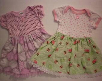 Infant girl onesie dress - 0-3 months