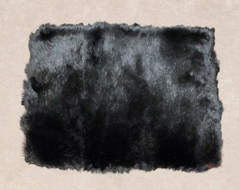 Vintag 1940s fur muff handwarmer clutch with zip compartment soft fur black brown great condition no shedding