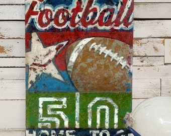 Football Art - Line Up Collection - Sports Wall Art Decor