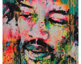 Hendrix- small print on paper, Giclée