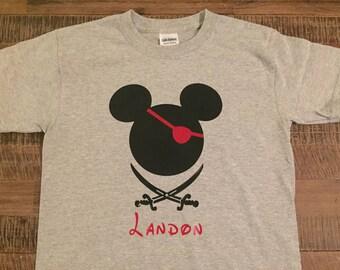 Youth Disney Pirate Mickey Head Shirt