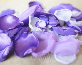 purple petals rose wedding decoration wedding petals violet petals wedding singed petals aisle petals rose wedding toss wedding confetti