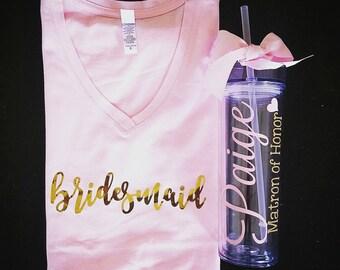 Custom Blossom shirt, baby pink shirt, blush shirt, bridesmaid shirt,
