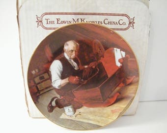 Grandpas Love Collector plate by Norman Rockwell, Edwin Knowles China, Vintage 1987 Limited Edition,  5080L, no cert, excellent condition