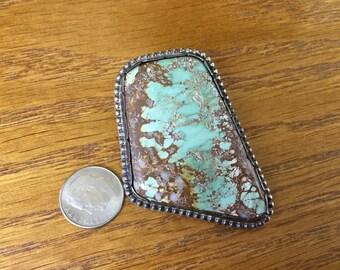 Vintage Turquoise Bolo, no clip
