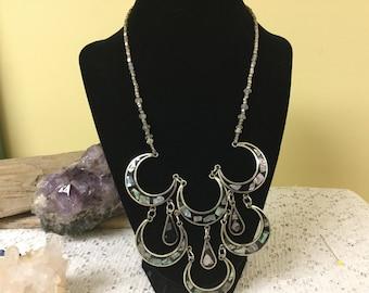 Vintage Mexican Bib Necklace