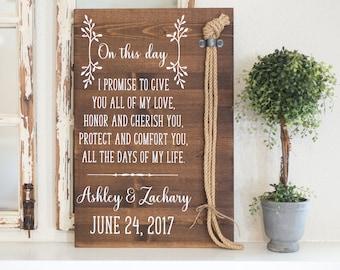 Unity Ceremony, Unity Cords, Wedding Sign, Cord of Three Strands, Wedding Vows